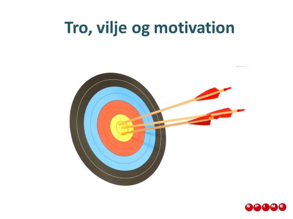 Tro, vilje og motivation