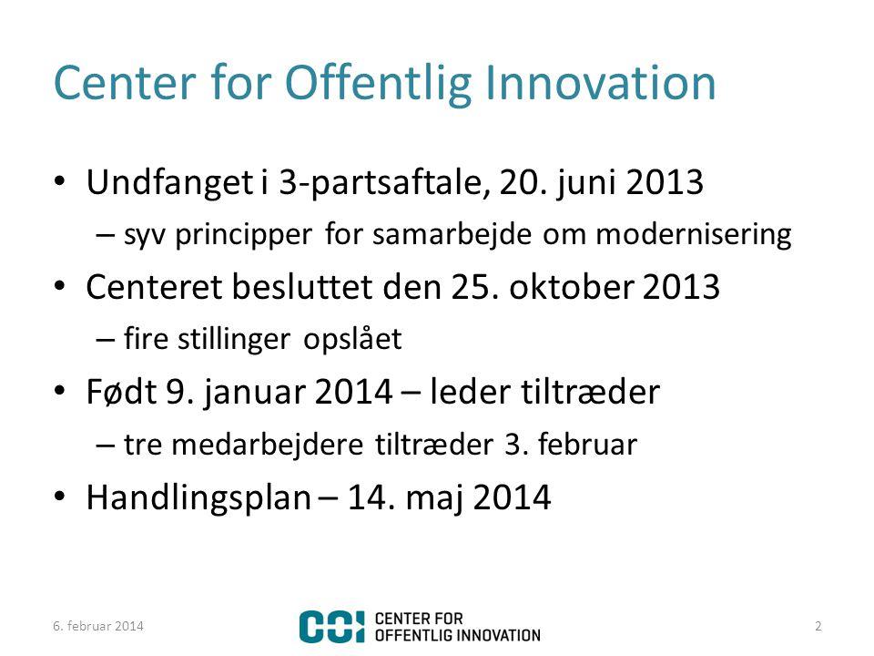 Center for Offentlig Innovation • Undfanget i 3-partsaftale, 20.