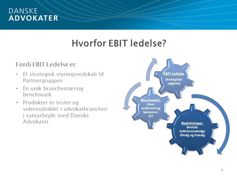 15 Eksempel på EBIT Ledelse Område Egen virksomhed Egen virksomheds bundlinje- potentiale i forhold til henholdsvis: Gennemsnit (Potentielt forbedret EBIT) Best Practice (Potentielt forbedret EBIT) Gennemsnitsløn, alle ekskl.