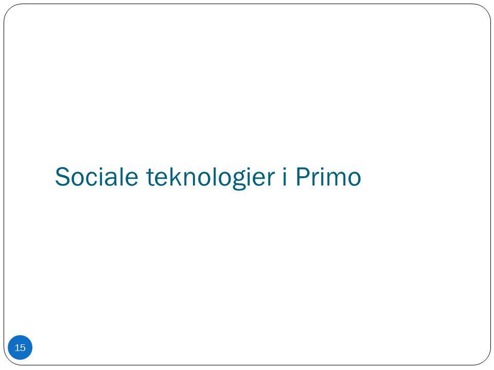 Sociale teknologier i Primo 15