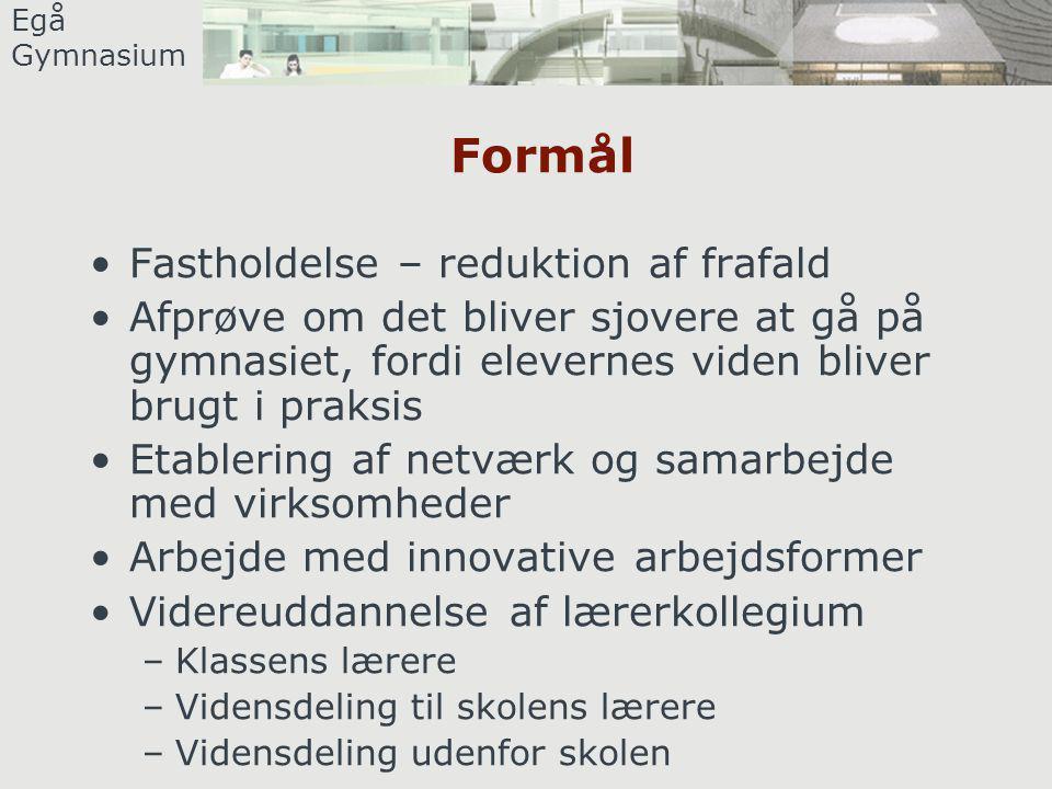 Egå Gymnasium Dagens program 12.30 – 13.15 Frokost 13.15 – 13.45 Erfaringer med samarbejde mellem Gymnasium og erhvervsliv.
