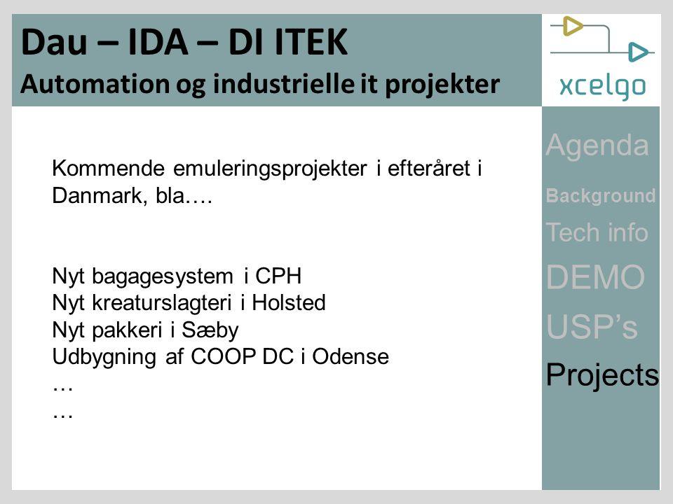 Kommende emuleringsprojekter i efteråret i Danmark, bla….
