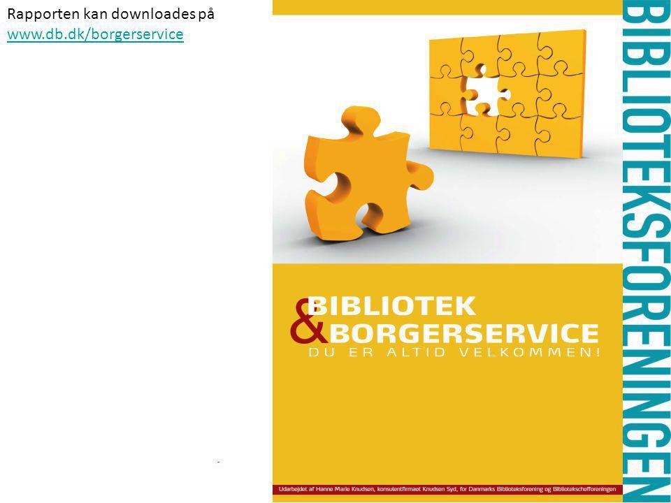 - Rapporten kan downloades på www.db.dk/borgerservice
