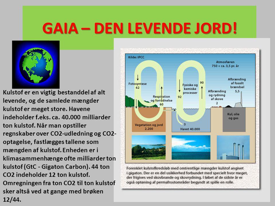 Kulstof er en vigtig bestanddel af alt levende, og de samlede mængder kulstof er meget store. Havene indeholder f.eks. ca. 40.000 milliarder ton kulst
