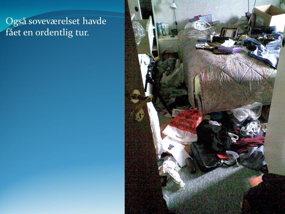 Også soveværelset havde fået en ordentlig tur. www.StopTyve.com