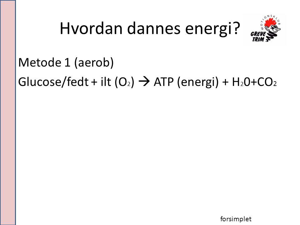 Hvordan dannes energi.