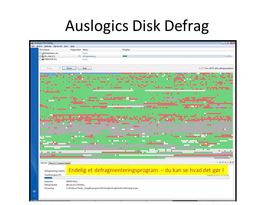 Auslogic Registry Cleaner Effektivt og lynhurtigt renseprogram – finder mange fejl og retter dem