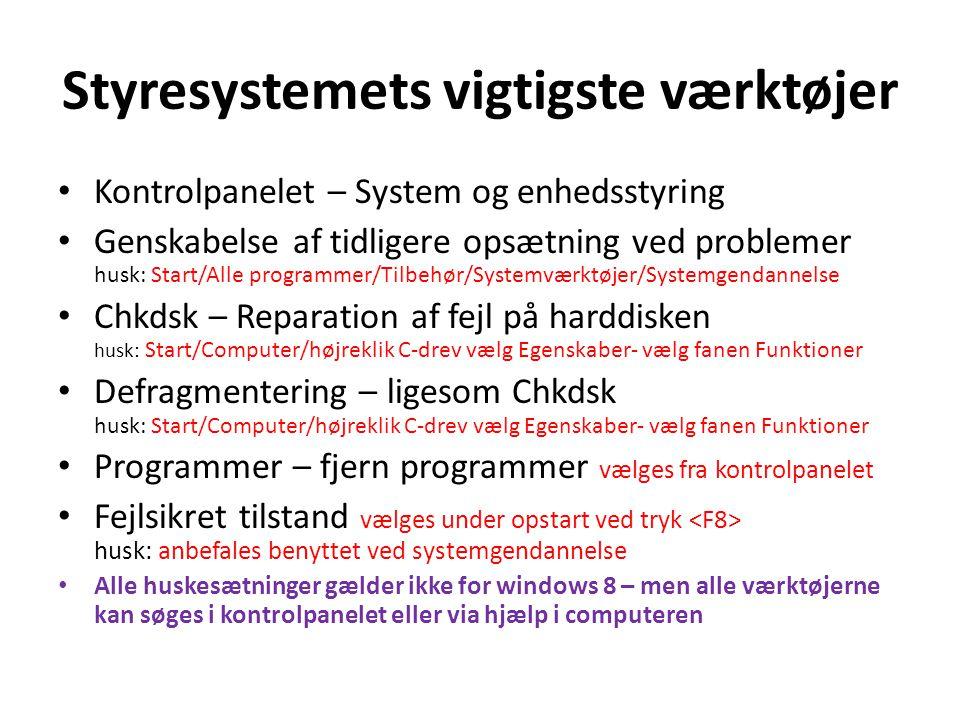System Information for Windows (SIW) Uundværligt når du skal have detaljerede oplysninger om din PC i mange forskellige situationer Desværre programmet er ikke kompatibel med windows 8