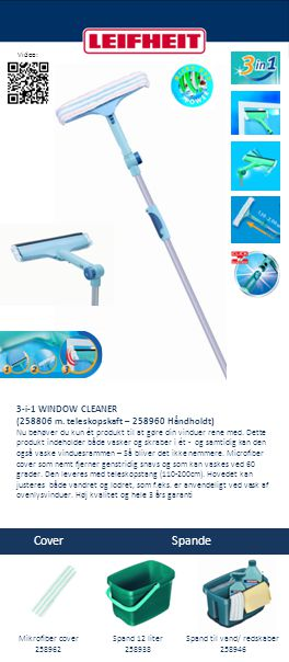 Cover Spande 3-i-1 WINDOW CLEANER (258806 m.
