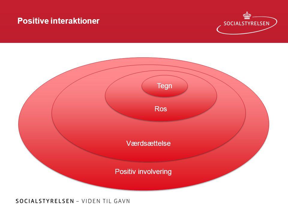 Positive interaktioner Positiv involvering Værdsættelse Ros Tegn