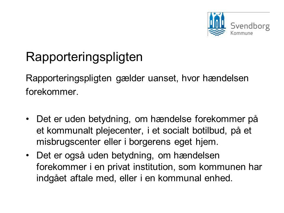 Obligatorisk indrapportering for Kommunerne •Sektorovergange •Medicinering •Infektioner •Patientuheld