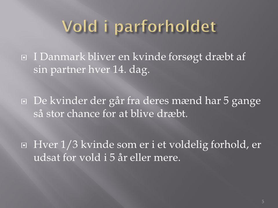  I Danmark bliver en kvinde forsøgt dræbt af sin partner hver 14.