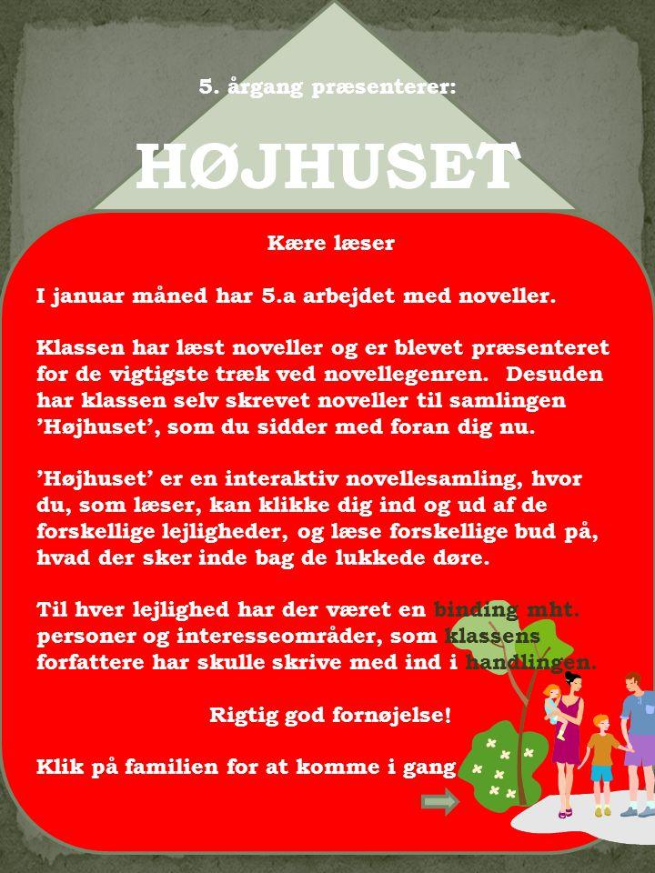 6 Velkommen til lejlighed 6 Her kan du besøge: Manden der aldrig gav op Skrevet af Sebastian og Rasmus Højhuset nr.