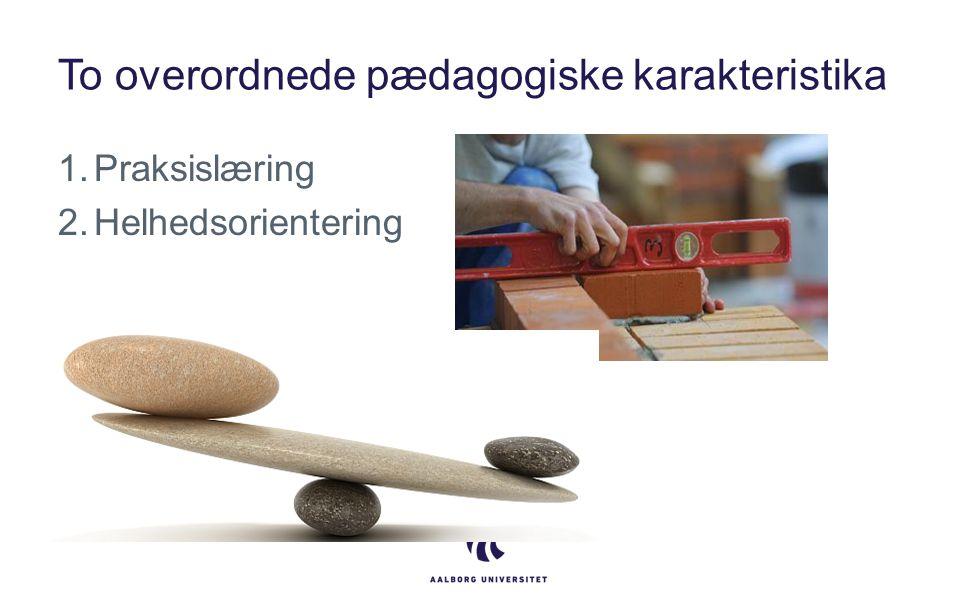 To overordnede pædagogiske karakteristika 1.Praksislæring 2.Helhedsorientering