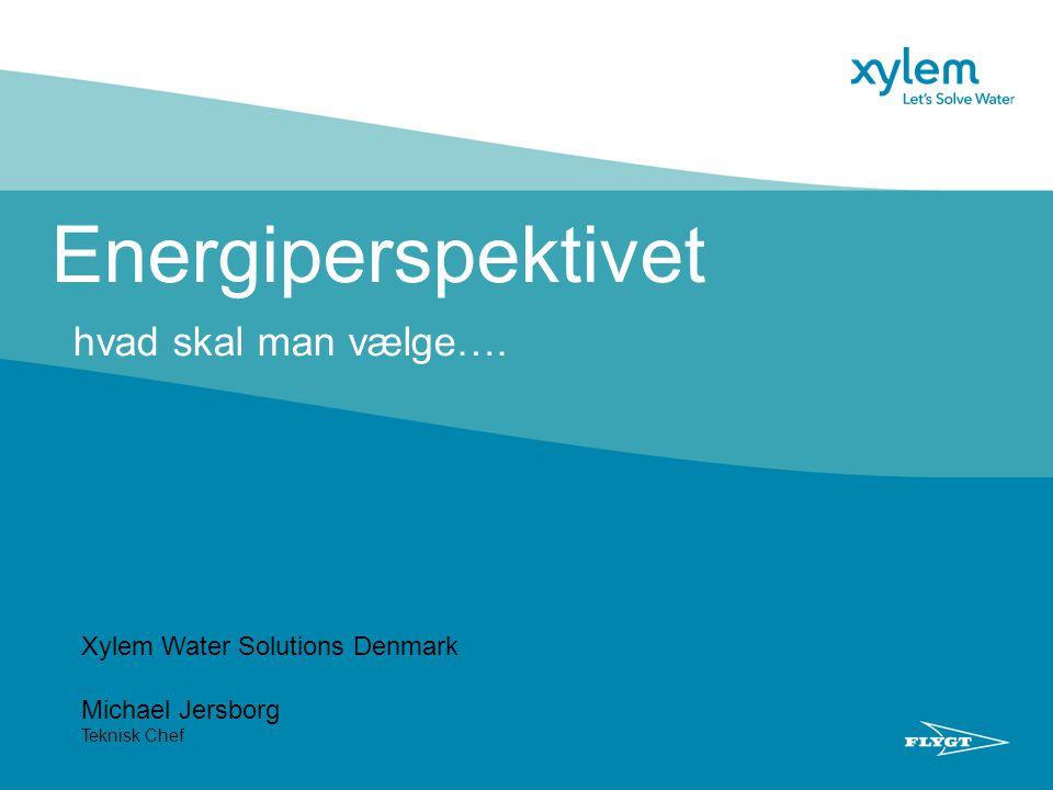 Energiperspektivet hvad skal man vælge…. Xylem Water Solutions Denmark Michael Jersborg Teknisk Chef