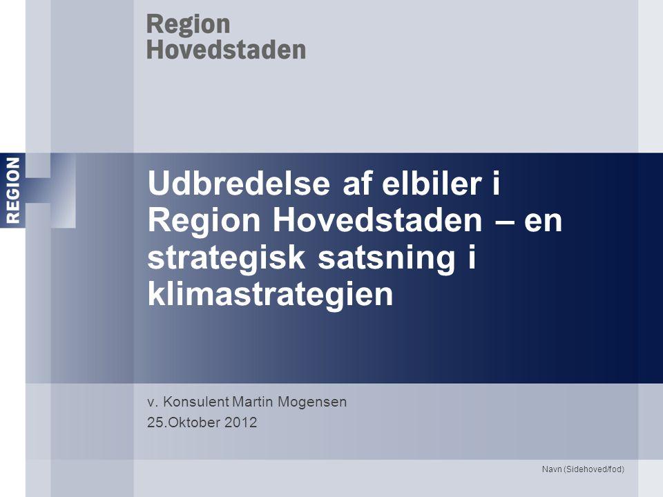 Udbredelse af elbiler i Region Hovedstaden – en strategisk satsning i klimastrategien v.