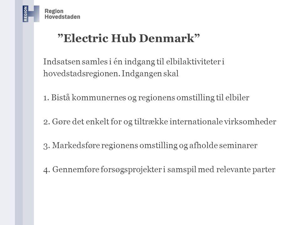 Electric Hub Denmark Indsatsen samles i én indgang til elbilaktiviteter i hovedstadsregionen.