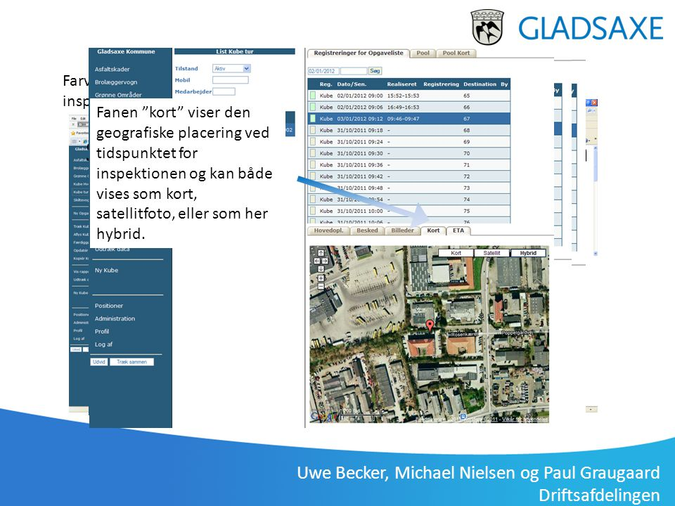 Uwe Becker, Michael Nielsen og Paul Graugaard Driftsafdelingen Administration på PC Synchronicer tilgås via en webbrowser på kontoret, eller via table