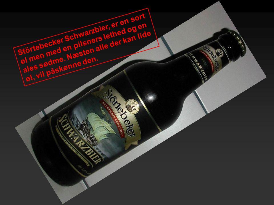 Störtebecker Schwarzbier, er en sort øl men med en pilsners lethed og en ales sødme. Næsten alle der kan lide øl, vil påskønne den.