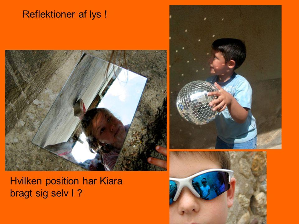 Reflektioner af lys ! Hvilken position har Kiara bragt sig selv I ?