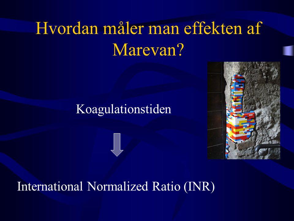 Hvordan måler man effekten af Marevan? Koagulationstiden International Normalized Ratio (INR)