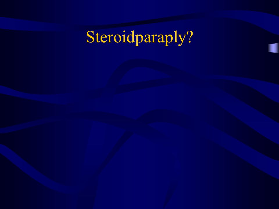 Steroidparaply?