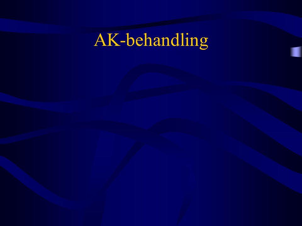 AK-behandling - Konklusion •MagnylForsæt •Clopidogrel (Plavix®)Forsæt •Magnyl + ClopidogrelForsæt •BriliqueForsæt •Vitamin K-antagonisterForsæt –INR < 3Forsæt –INR > 3Evt.