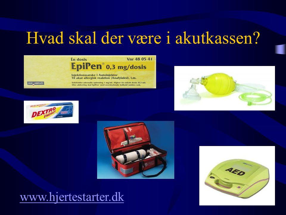 Hvad skal der være i akutkassen? www.hjertestarter.dk
