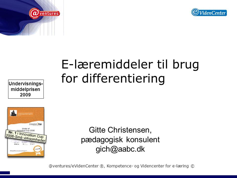 Digitale undervisningsmaterialer Pædagogisk model