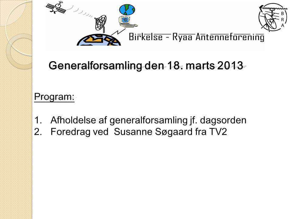 Generalforsamling den 18. marts 2013