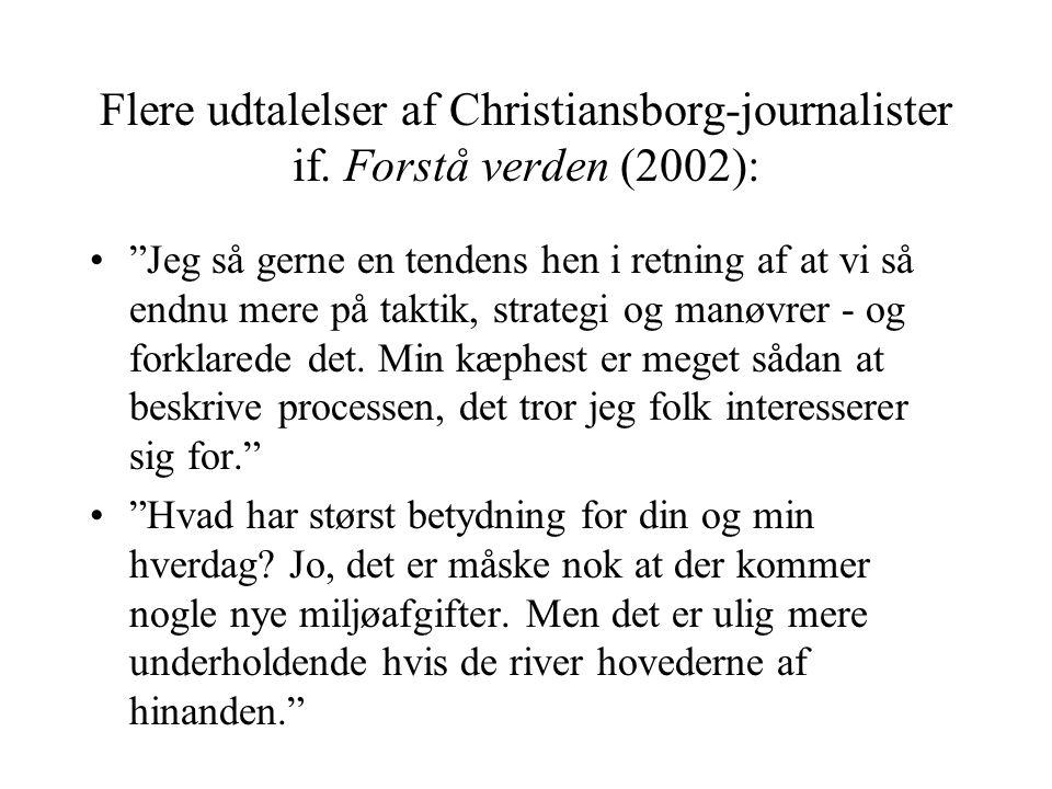 Flere udtalelser af Christiansborg-journalister if.