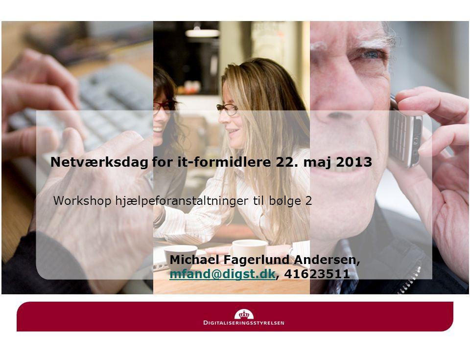 Workshop hjælpeforanstaltninger til bølge 2 Netværksdag for it-formidlere 22.