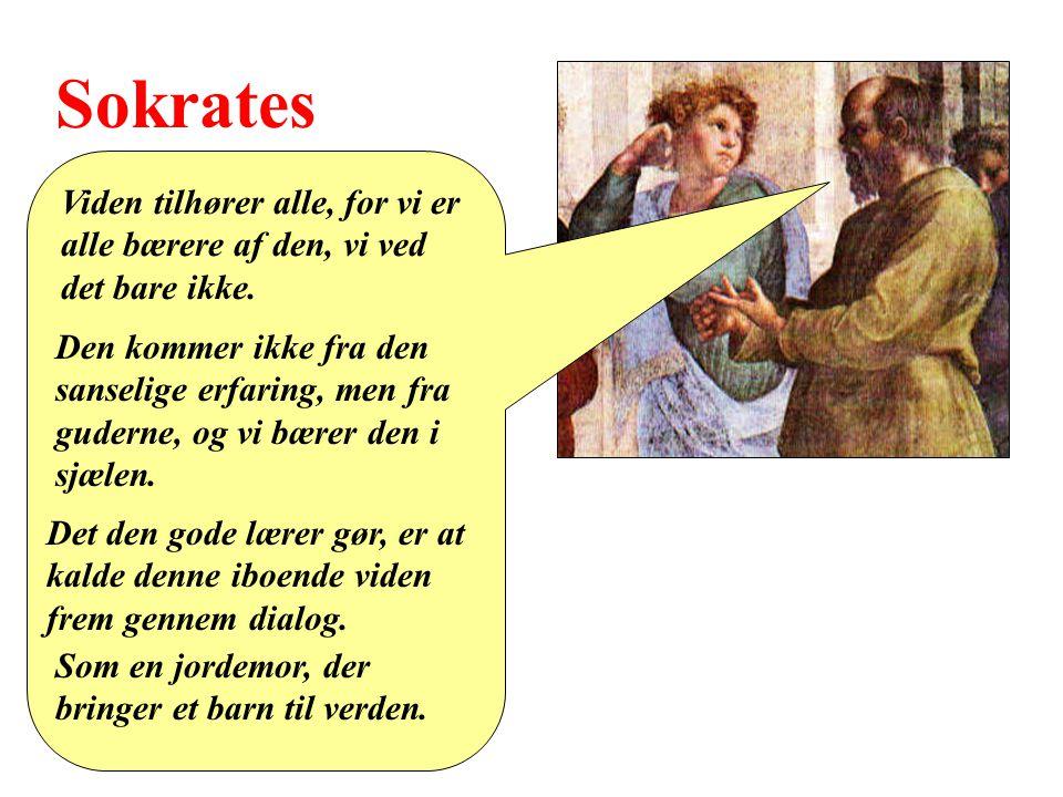 Sokrates Viden tilhører alle, for vi er alle bærere af den, vi ved det bare ikke.