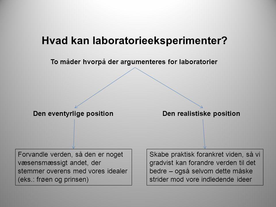 Hvad kan laboratorieeksperimenter.