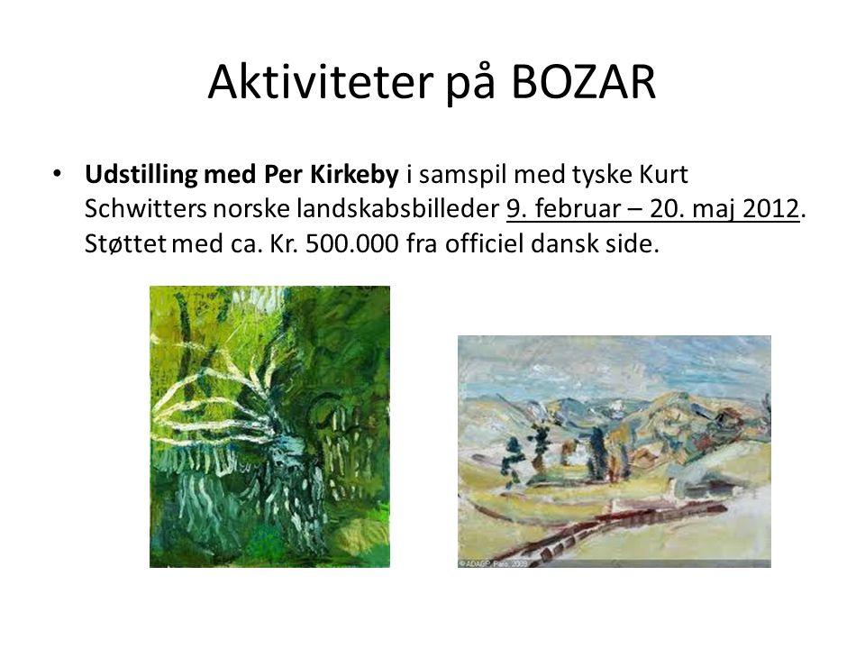 Aktiviteter på BOZAR • Udstilling med Per Kirkeby i samspil med tyske Kurt Schwitters norske landskabsbilleder 9.
