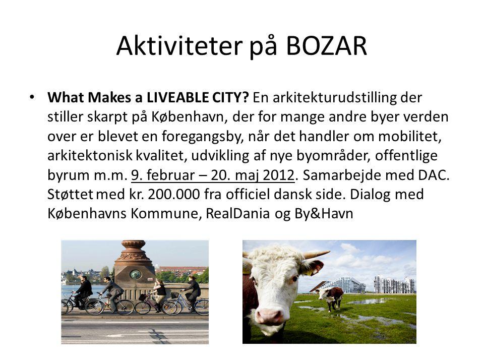 Aktiviteter på BOZAR • What Makes a LIVEABLE CITY.