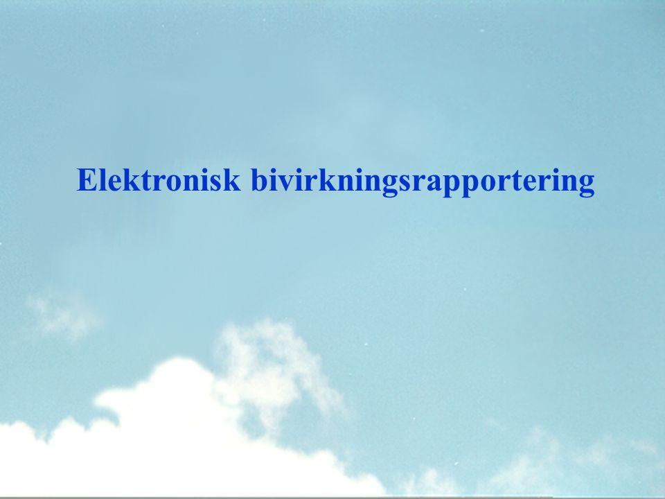 Elektronisk bivirkningsrapportering