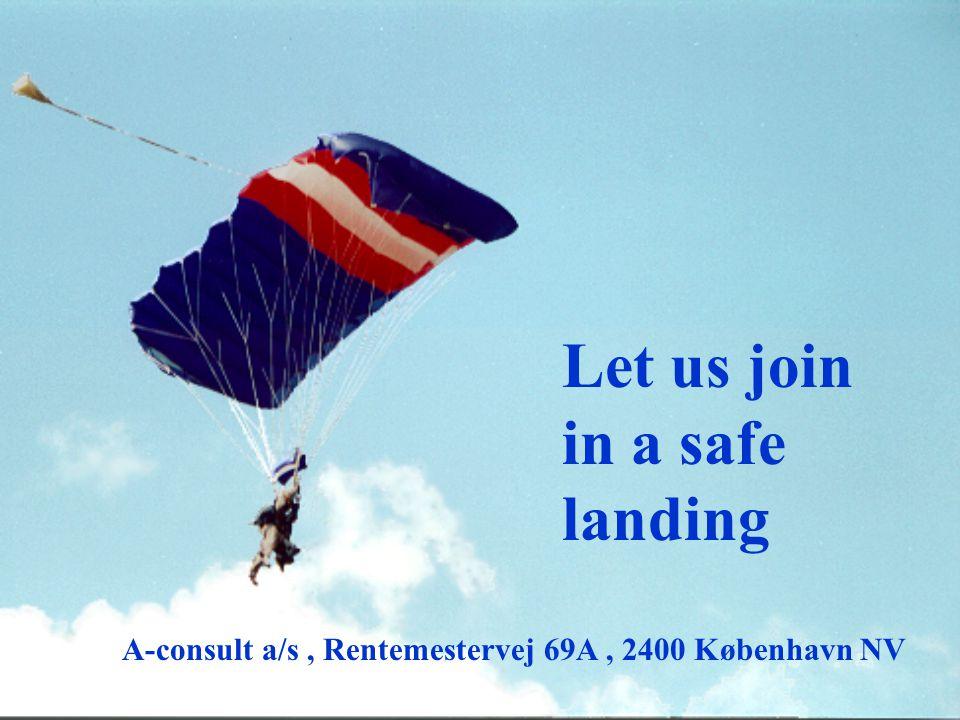 Let us join in a safe landing A-consult a/s, Rentemestervej 69A, 2400 København NV