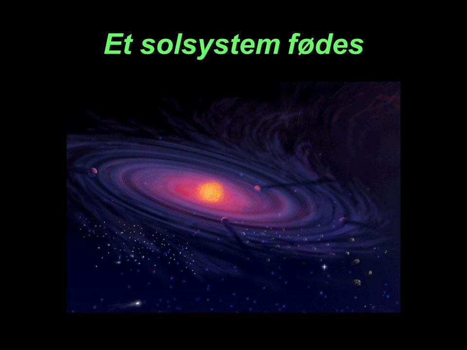 Et solsystem fødes