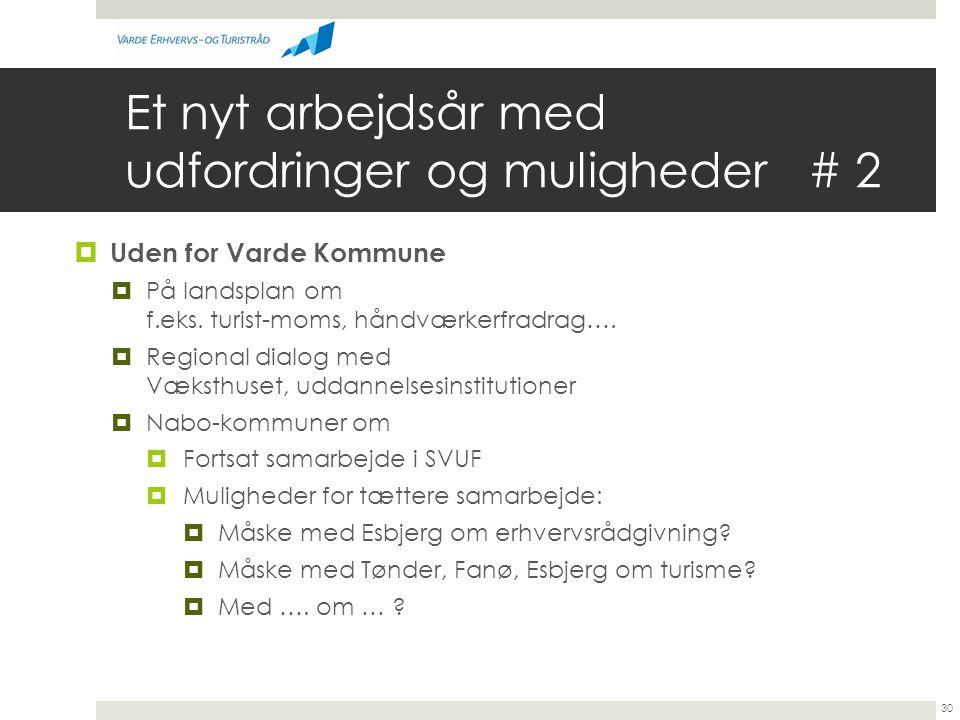 Et nyt arbejdsår med udfordringer og muligheder # 2  Uden for Varde Kommune  På landsplan om f.eks.