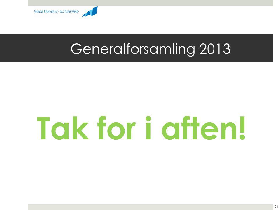 Generalforsamling 2013 Tak for i aften! 34
