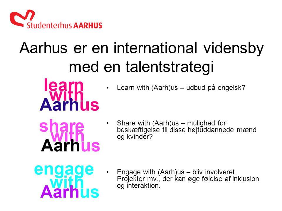 Anne Thorø Nielsen 23.02.2012 Aarhus er en international vidensby med en talentstrategi •Learn with (Aarh)us – udbud på engelsk.