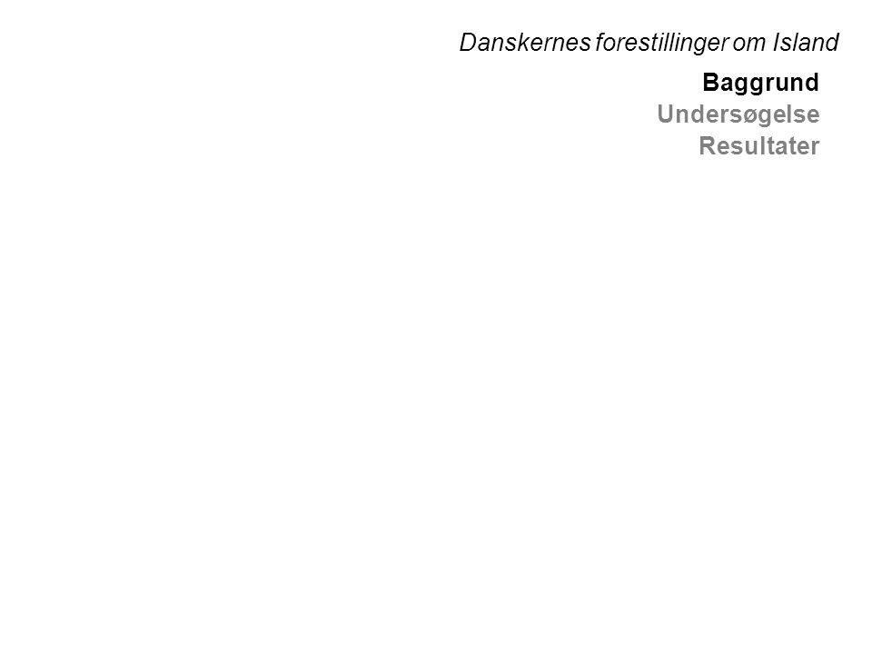 Baggrund Undersøgelse Resultater Danskernes forestillinger om Island