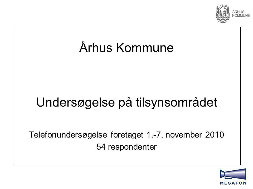 Århus Kommune Undersøgelse på tilsynsområdet Telefonundersøgelse foretaget 1.-7.