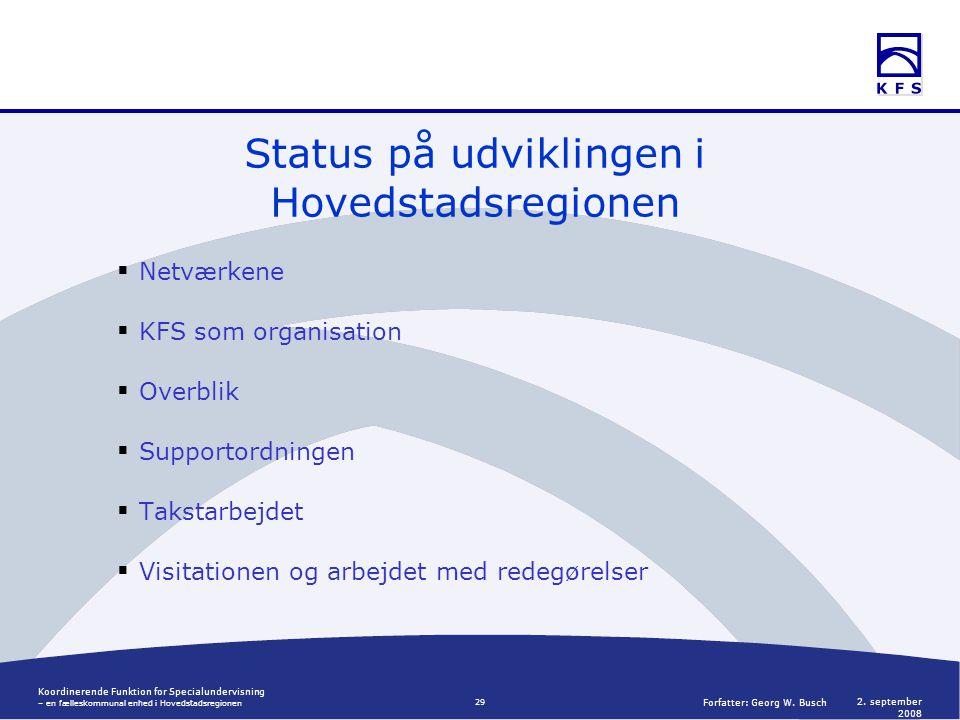 Koordinerende Funktion for Specialundervisning – en fælleskommunal enhed i Hovedstadsregionen 2.