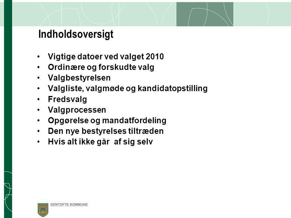 Skolebestyrelsesvalget 2010 Om skolebestyrelsesvalgets forberedelse og gennemførelse