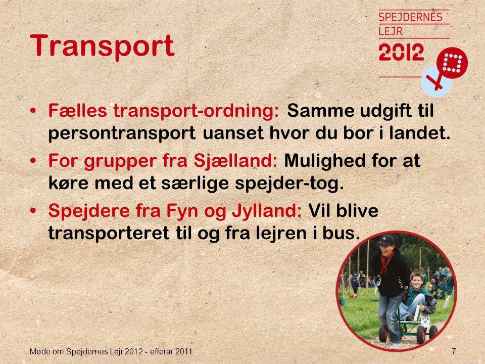 7 Transport •Fælles transport-ordning: Samme udgift til persontransport uanset hvor du bor i landet.