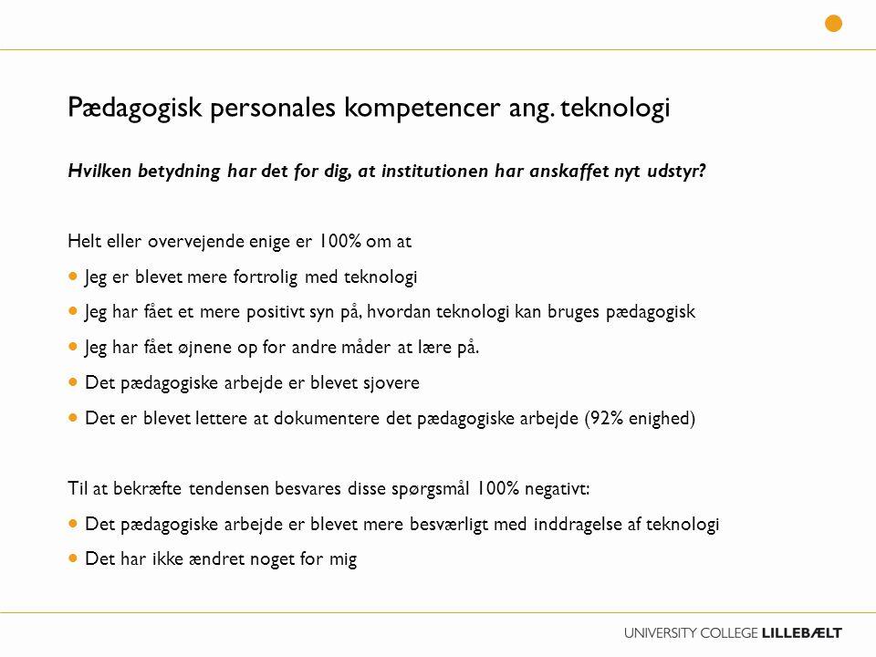 Pædagogisk personales kompetencer ang.
