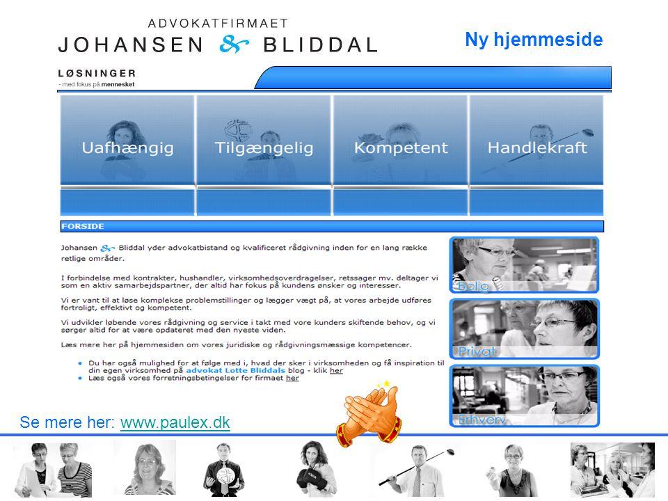 FOR SIDE Se mere her: www.paulex.dkwww.paulex.dk Ny hjemmeside