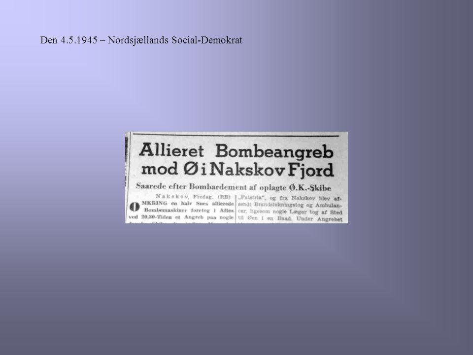 Den 4.5.1945 – Nordsjællands Social-Demokrat